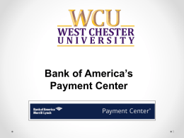 Bank of America's Payment Center 1