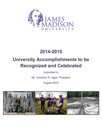 2014-2015 University Accomplishments to be Recognized and Celebrated