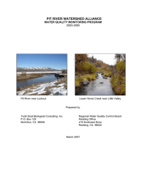 PIT RIVER WATERSHED ALLIANCE WATER QUALITY MONITORING PROGRAM 2003-2005