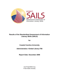 Results of the Standardized Assessment of Information Literacy Skills (SAILS) for