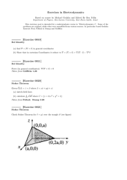 Exercises in Electrodynamics
