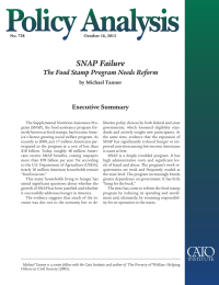SNAP Failure The Food Stamp Program Needs Reform Executive Summary by Michael Tanner
