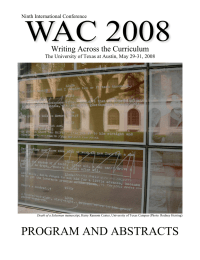 PROGRAM AND ABSTRACTS Writing Across the Curriculum  Ninth International Conference