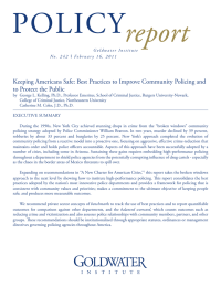 POLICY report Keeping Americans Safe: Best Practices to Improve Community Policing and