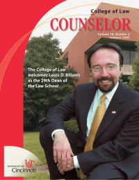 COUNSELOR College of Law The College of Law welcomes Louis D. Bilionis