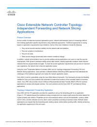 Cisco Extensible Network Controller Topology- Independent Forwarding and Network Slicing Applications Product Overview