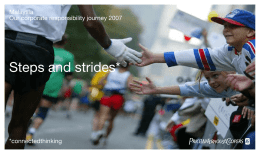Steps and strides* PwC Malaysia Our corporate responsibility journey 2007