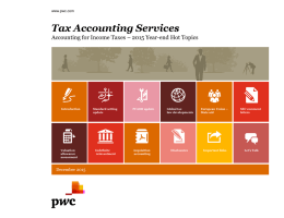 Tax Accounting Services www.pwc.com