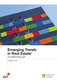 Emerging Trends in Real Estate A balancing act Europe 2015