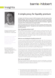 Insights A simple proxy for liquidity premium
