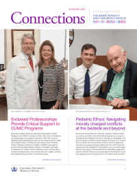 Connections Endowed Professorships Provide Critical Support to CUMC Programs