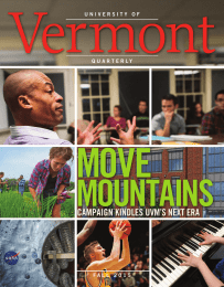 Vermont MOVE MOUNTAINS CAMPAIGN KINDLES UVM'S NEXT ERA