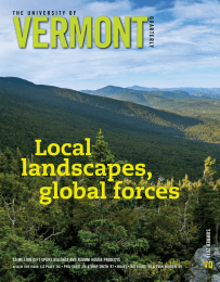 VERMONT Local landscapes, global forces