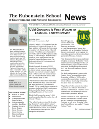 News The Rubenstein School  UVM G