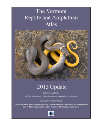 The Vermont Reptile and Amphibian Atlas 2013 Update
