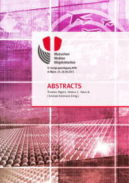 ABSTRACTS Thomas Rigotti, Verena C. Haun & Christian Dormann (Hrsg.) |  1