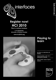 HCI 2010 Register now! Playing to learn