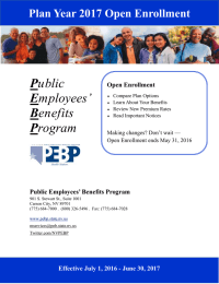 P E B Plan Year 2017 Open Enrollment