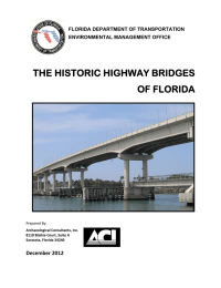 THE HISTORIC HIGHWAY BRIDGES OF FLORIDA December 2012