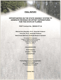 FINAL REPORT OPPORTUNITIES ON THE STATE HIGHWAY SYSTEM TO