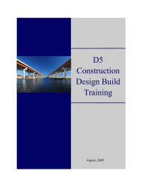 D5 Construction Design Build Training