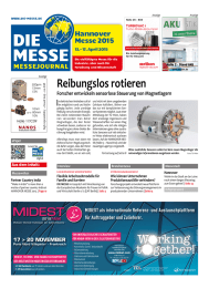 Reibungslos rotieren I Hannover Messe 2015