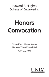 Honors Convocation Howard R. Hughes