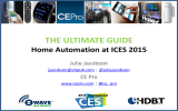 THE ULTIMATE GUIDE  Home Automation at ICES 2015 Julie Jacobson