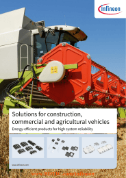 BDTIC www.BDTIC.com/infineon Solutions for construction, commercial and agricultural vehicles