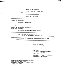 Thomas Woznicki vs. Dennis Erickson Court Filing (September 1995)